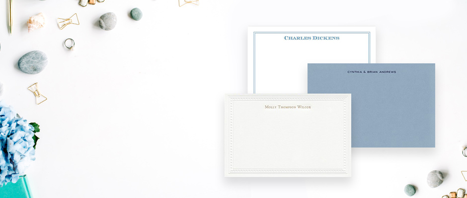 Shop Flat Note Cards at Fine Stationery