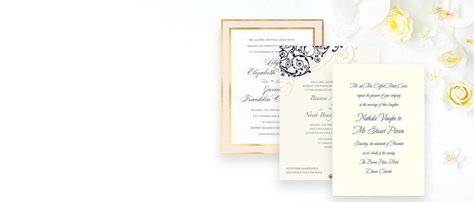 Shop Wedding Invitations at Fine Stationery