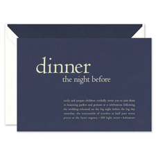Shop Rehearsal Dinner at Fine Stationery